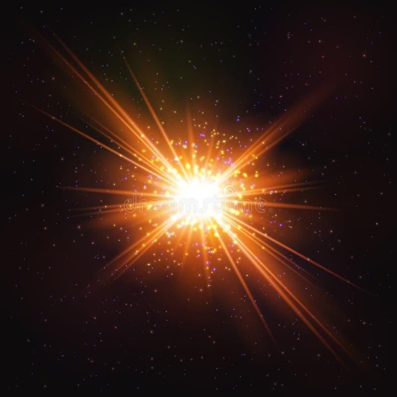 Olśniewający Gorący Pozaziemski wybuch gwiazda royalty ilustracja