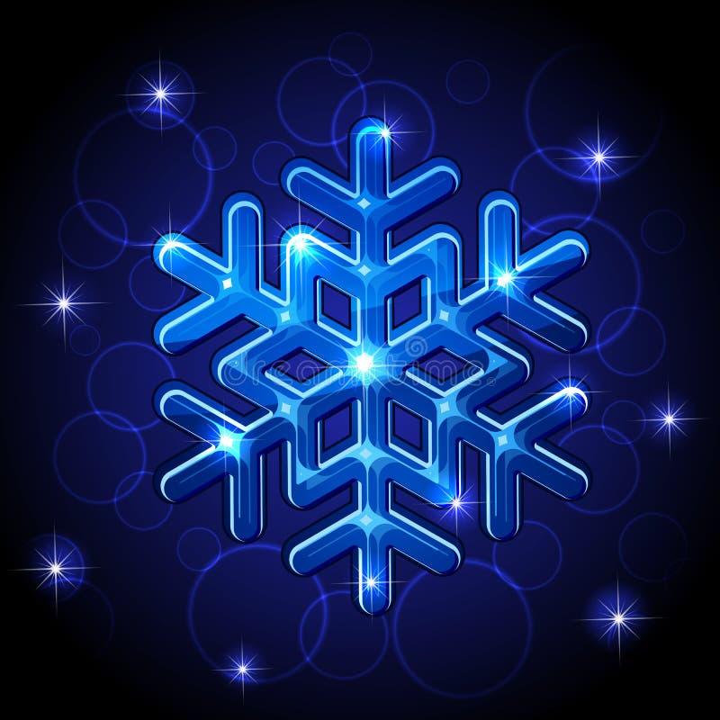 olśniewający płatek śniegu royalty ilustracja