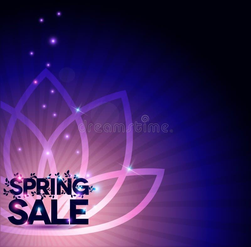 Olśniewający wiosny sprzedaży plakat z kwiatem royalty ilustracja