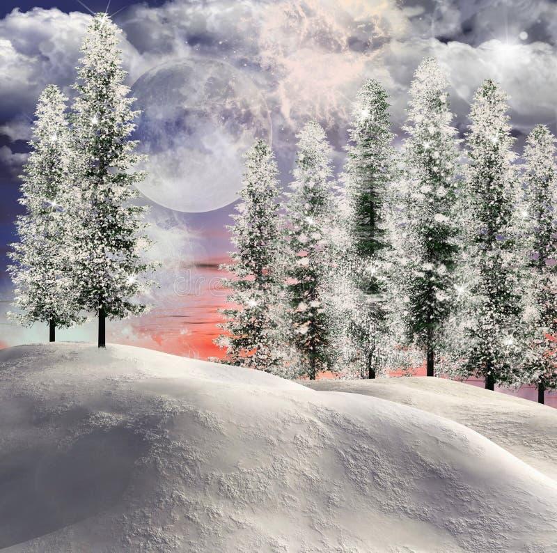 Olśniewający zima tło ilustracja wektor