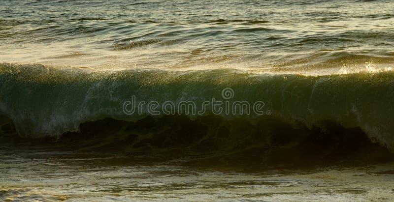 Ola oceánica alrededor a romperse foto de archivo