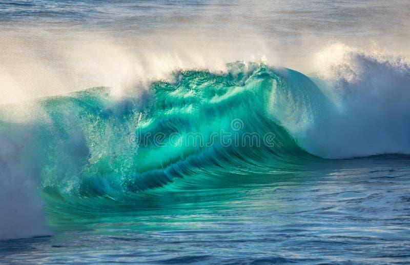 Ola oceánica grande en luz hermosa imágenes de archivo libres de regalías