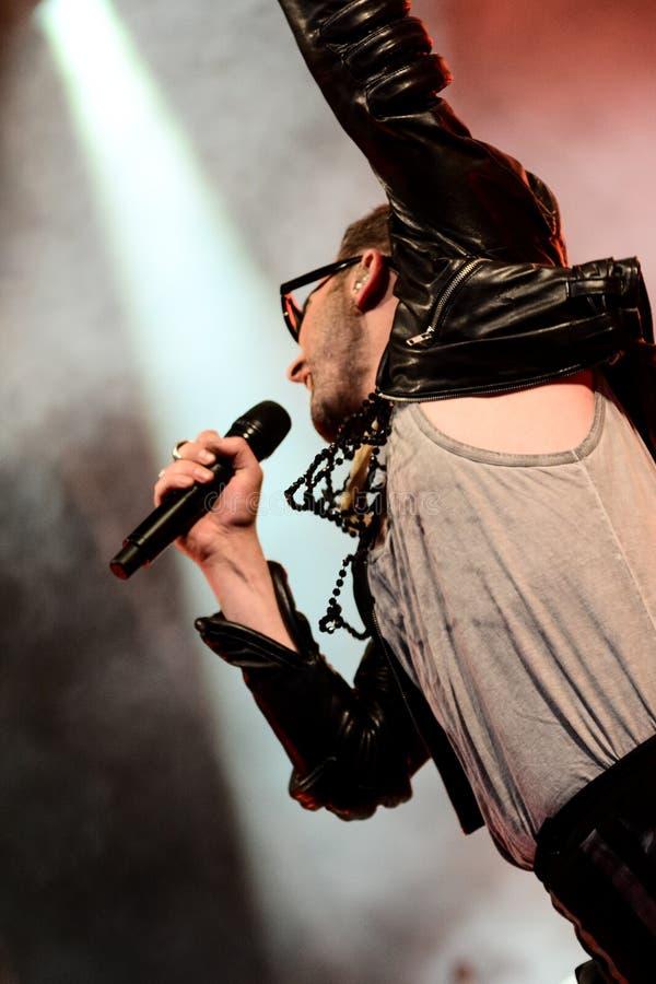 Ola Salo è un cantante rock svedese immagini stock libere da diritti