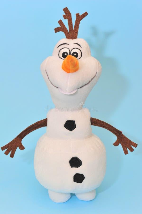 Olaf de sneeuwman, Bevroren karakter royalty-vrije stock foto's