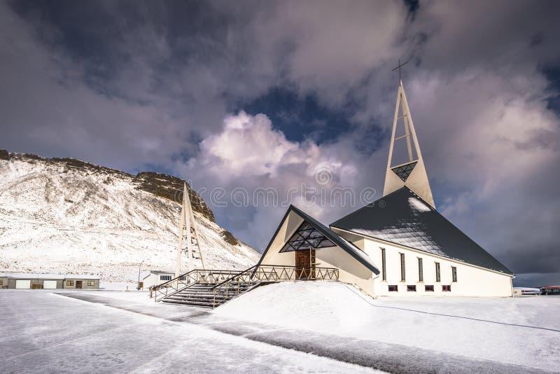 Olafsvik - May 03, 2018: Church of Olafsvik, Iceland stock images