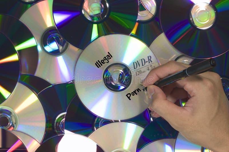 Olaglig pornografi DVD arkivbilder
