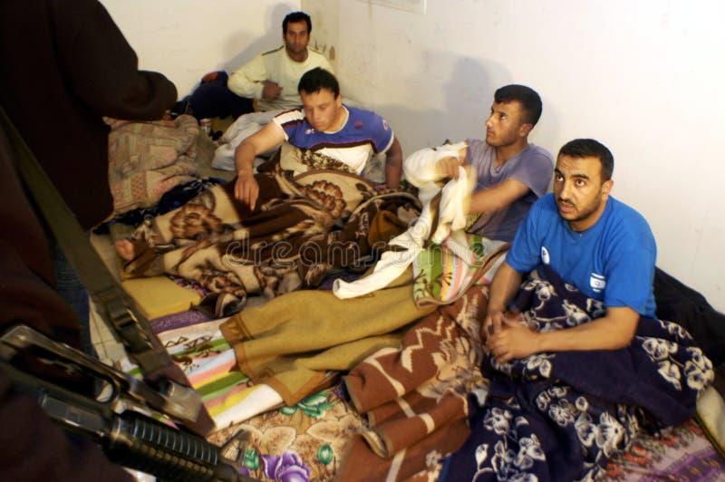 Olagliga palestinska arbetare i Israel royaltyfria foton