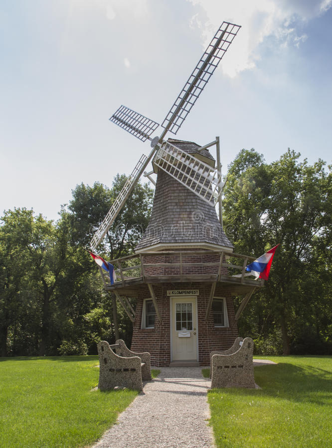 Olandese Wildmill Klompenfest fotografia stock libera da diritti