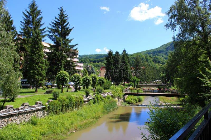 Olanesti Balnearic semesterort med termiskt vatten royaltyfri foto