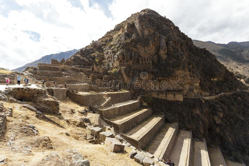 Olantaytamboo, археологическое место, Inca, Перу стоковые фотографии rf