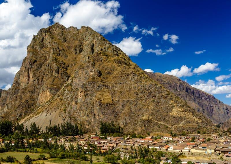 Olantaytamboo, sitio arqueológico, inca, Perú fotos de archivo
