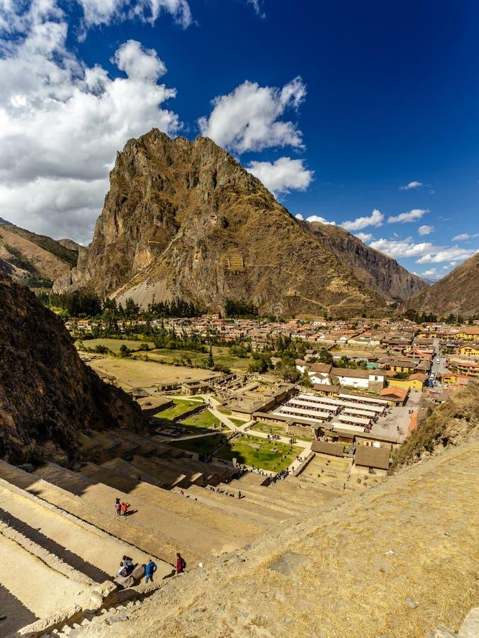 Olantaytamboo, sito archeologico, inca, Perù fotografia stock libera da diritti