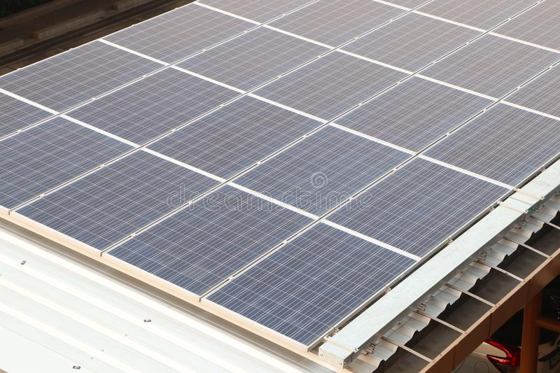 olar panel at roof stock image