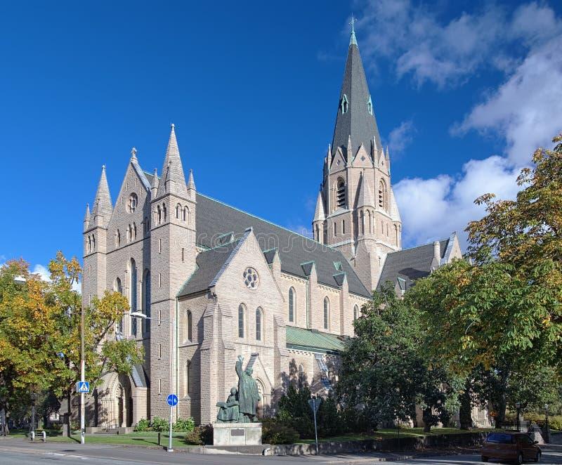 Olaus Petri Kirche in Orebro, Schweden lizenzfreies stockbild