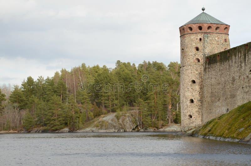 Olavinlinnа堡垒 免版税库存图片