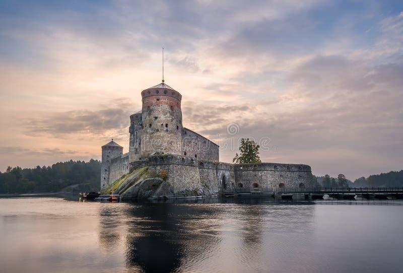 Olavinlinna堡垒 库存图片