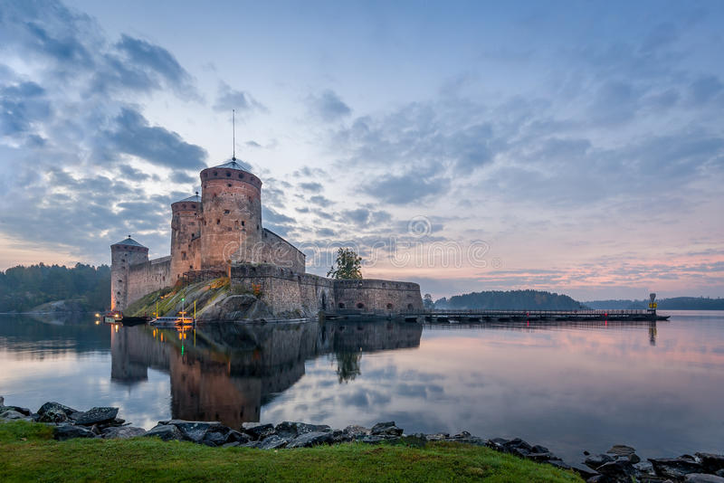 Olavinlinna堡垒 免版税库存照片