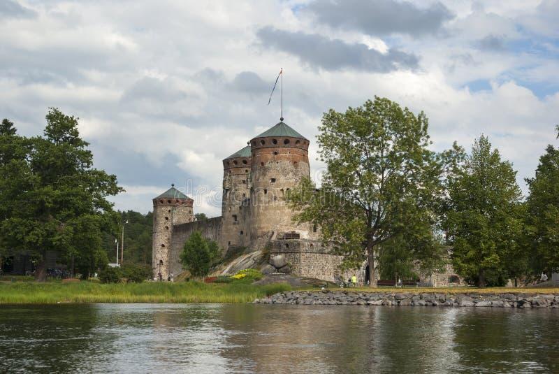 Olavinlinna royalty-vrije stock afbeelding