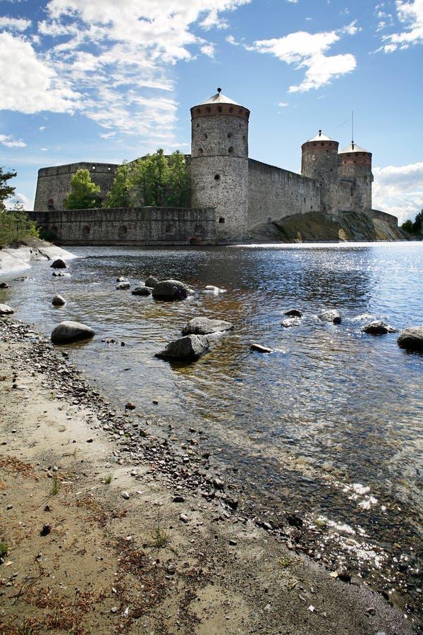 Olavinlinna castle stock photos