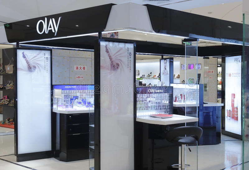 Olay cosmetics counter royalty free stock photography