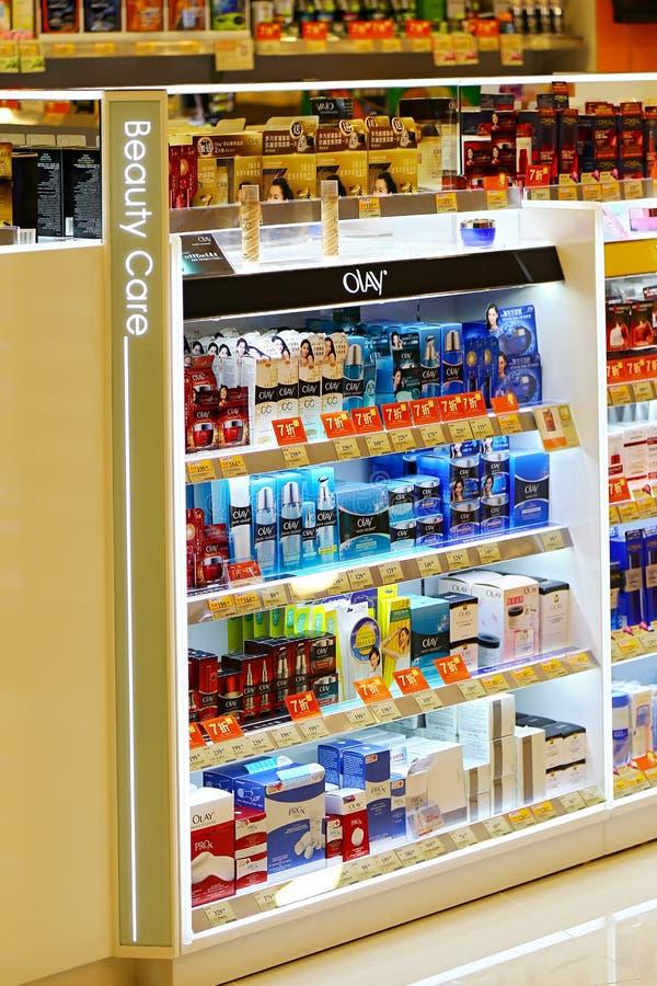 Olay cosmetics products stock photo