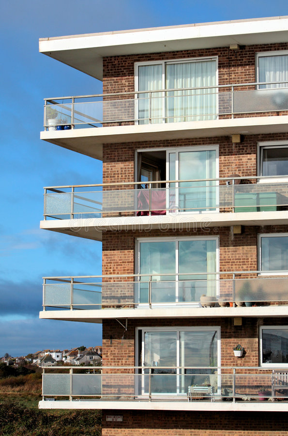 Old 1960 S Style Apartment Block Of Flats Stock Photos