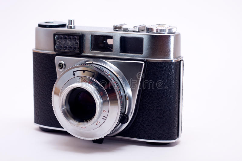 Old 35mm film camera stock image