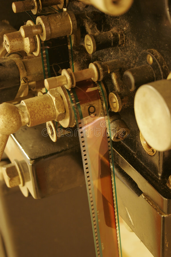 An old 35mm film projector stock photos