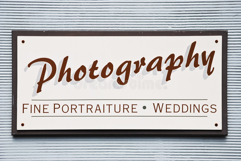 Old. Photography sign on painted wall royalty free stock photography