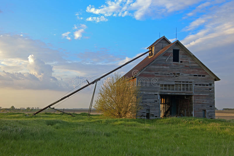 Old Abandoned Barn In Illinois. Old Abandoned Barn In Central Illinois stock photo