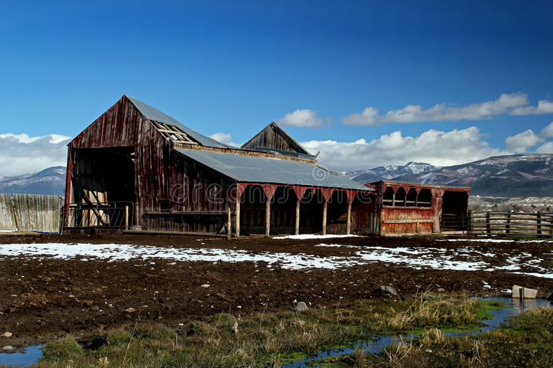 An Old Abandoned Barn stock photo