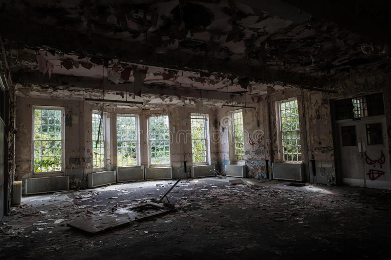 Old abandoned building stock photography