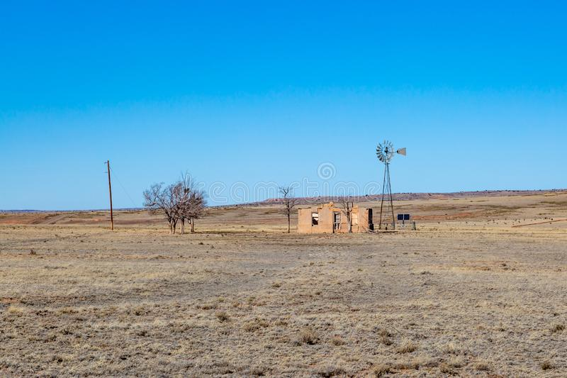 A Derelict Building in Rural New Mexico stock photo