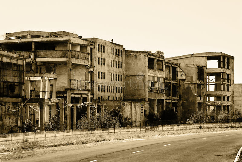 Download Old abandoned buildings stock photo. Image of grunge - 16138024