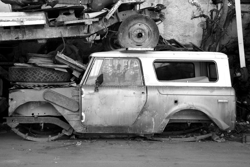 Old abandoned car stock photos
