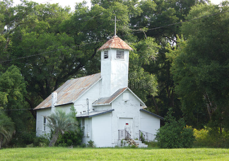 Old abandoned church in Mount Dora, Florida royalty free stock image