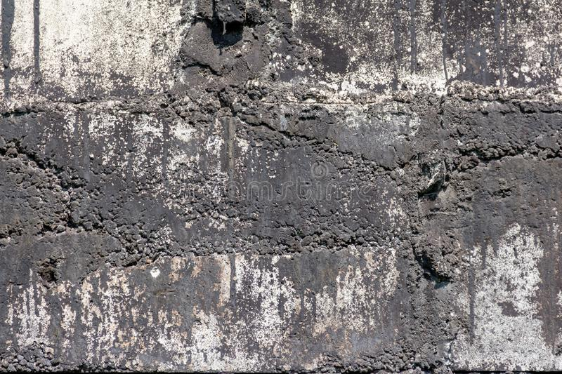 Wall of concrete and brick with plaster texture stock photography