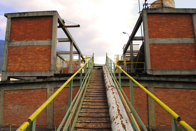 Old abandoned factory. Industrial archeology royalty free stock photography