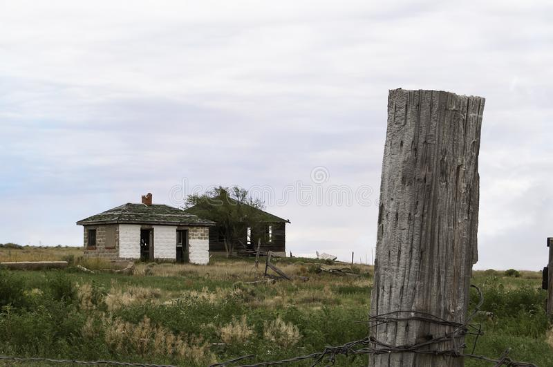 Old abandoned farm house in Colorado royalty free stock photos