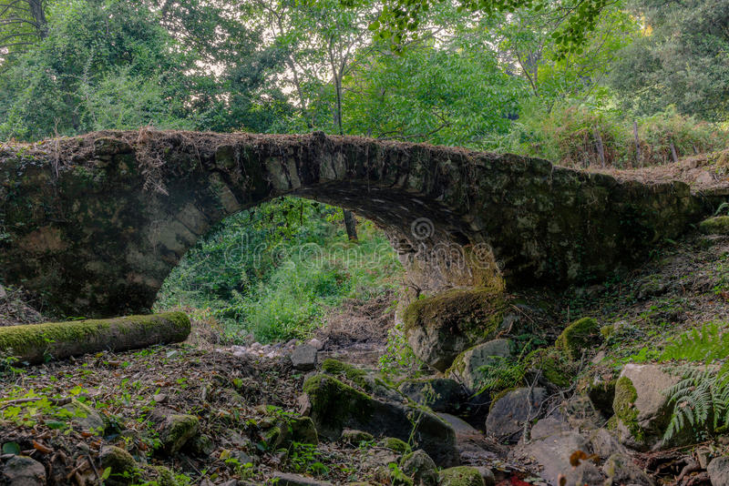 Old abandoned Genovese bridge in Corsica - 1 royalty free stock photo