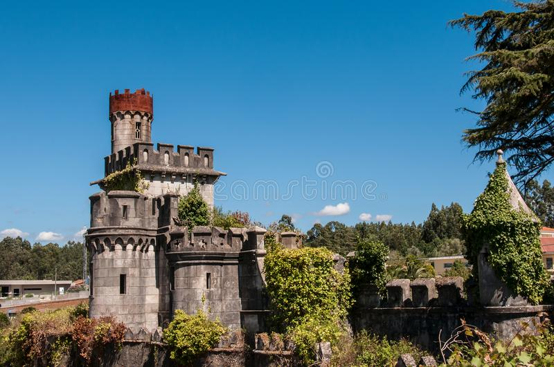 Old and abandoned castle stock image
