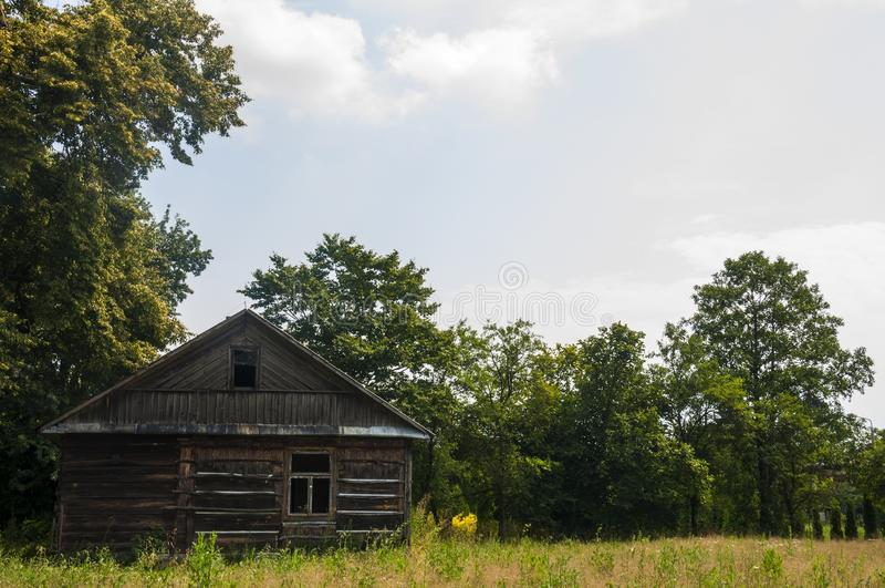 An old abandoned house in the deep village royalty free stock image