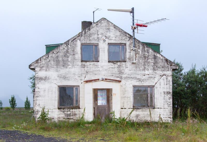 Old abandoned house - Iceland stock image