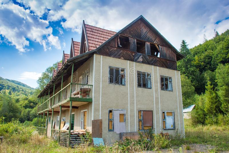 Old Abandoned House in the mountains royalty free stock images
