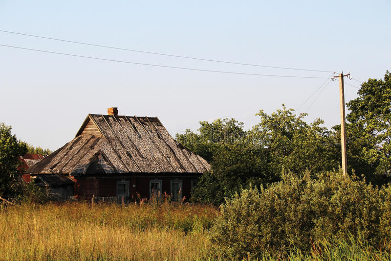 An old abandoned house in Russian countryside stock image