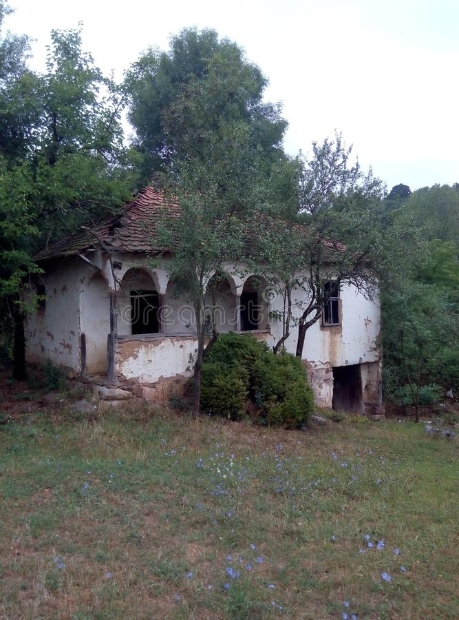 Old abandoned house in the villlage. Serbia stock images