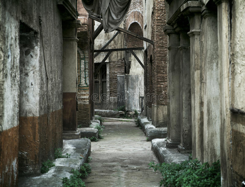 Old Abandoned Houses In Ancient Rome Royalty Free Stock Image