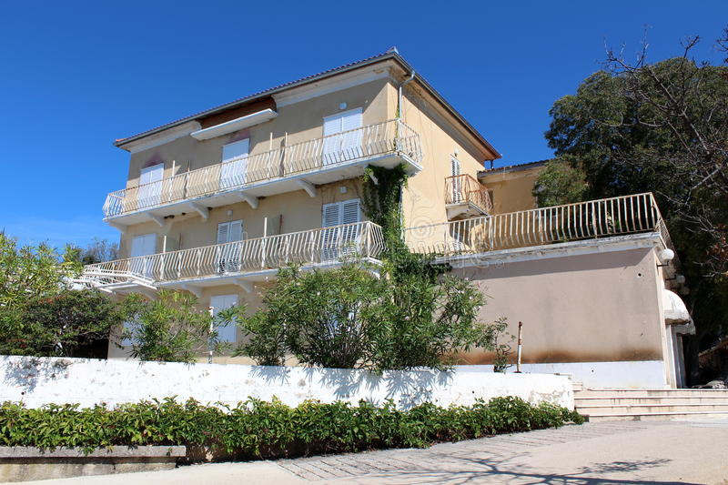 Download Abandoned Mediterranean Small Hotel Building Stock Photo - Image of building, white: 78148302