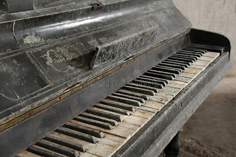 Old Abandoned Piano royalty free stock images