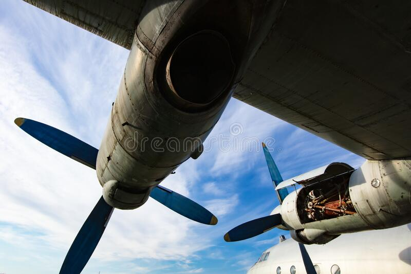 Old abandoned propeller plane royalty free stock images